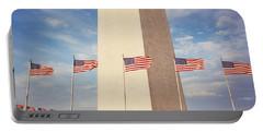 Washington Monument Washington Dc Usa Portable Battery Charger by Panoramic Images