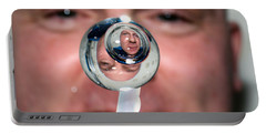 Portable Battery Charger featuring the photograph Water Droplet On The Iss by Science Source
