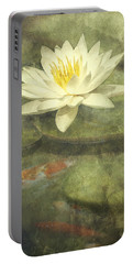 Water Lily Portable Battery Charger by Scott Norris