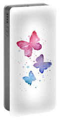 Watercolor Butterflies Portable Battery Charger by Olga Shvartsur