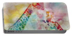 Watercolor Giraffes Portable Battery Charger by Dan Sproul