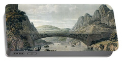 Waterloo Bridge Over The River Conwy Portable Battery Charger by English School