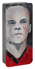 Wayne Rooney Portable Battery Charger by John Halliday