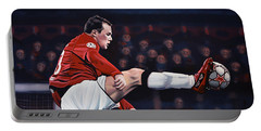 Wayne Rooney Portable Battery Charger by Paul Meijering