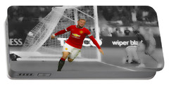 Wayne Rooney Scores Again Portable Battery Charger by Brian Reaves