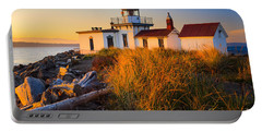 West Point Lighthouse Portable Battery Charger by Inge Johnsson