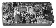 Westminster Abbey In London Portable Battery Charger by Underwood Archives
