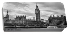 Westminster Panorama Portable Battery Charger by Heather Applegate
