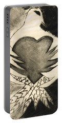 White Dove Art - Comfort - By Sharon Cummings Portable Battery Charger by Sharon Cummings
