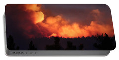 Portable Battery Charger featuring the photograph White Draw Fire First Night by Bill Gabbert
