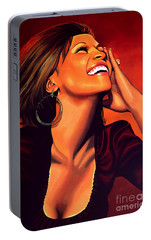 Whitney Houston Portable Battery Charger by Paul Meijering