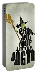 Wicked Witch Of The West Portable Battery Charger by Ayse Deniz