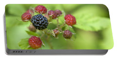 Wild Berries Portable Battery Charger by Christina Rollo