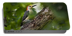 Red Bellied Woodpecker Portable Battery Charger by Christina Rollo