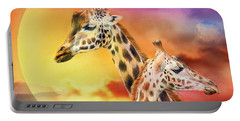 Wild Generations - Giraffes  Portable Battery Charger by Carol Cavalaris