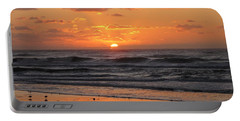 Wildwood Beach Here Comes The Sun Portable Battery Charger by David Dehner