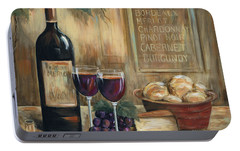 Wine For Two Portable Battery Charger by Marilyn Dunlap
