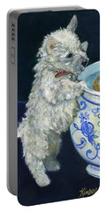 Winnie The Koi Watcher Portable Battery Charger by Kimberly McSparran