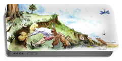 Helping Hands After E H Shepard Portable Battery Charger by Maria Hunt