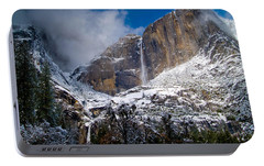Winter At Yosemite Falls Portable Battery Charger by Bill Gallagher