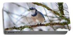 Winter Jay Portable Battery Charger by Deena Stoddard