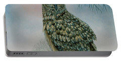 Winter Owl Portable Battery Charger by Ditz