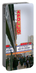 Wintry Day At The Apollo Portable Battery Charger by Ed Weidman