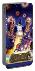 Wizard Dragon Spell Portable Battery Charger by Andrew Farley