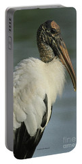 Wood Stork In Oil Portable Battery Charger by Deborah Benoit