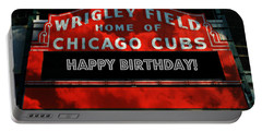 Wrigley Field -- Happy Birthday Portable Battery Charger by Stephen Stookey