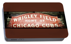 Wrigley Field Sign - No.2 Portable Battery Charger by Stephen Stookey