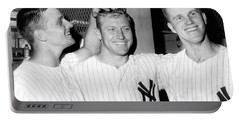 Yankees Celebrate Victory Portable Battery Charger by Underwood Archives