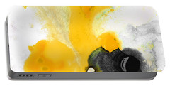 Yellow Orange Abstract Art - The Dreamer - By Sharon Cummings Portable Battery Charger by Sharon Cummings