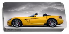 Yellow Viper Roadster Portable Battery Charger by Douglas Pittman