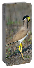Yellow-wattled Lapwing Vanellus Portable Battery Charger by Panoramic Images