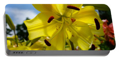 Yellow Whopper Lily 2 Portable Battery Charger by Jacqueline Athmann