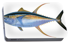 Yellowfin Tuna Portable Battery Charger by Carey Chen
