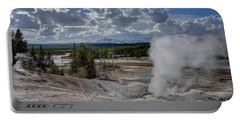 Portable Battery Charger featuring the photograph Yellowstone's Norris Geyser Basin by Bill Gabbert