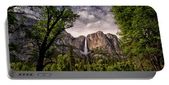Yosemite Falls Portable Battery Charger by Cat Connor