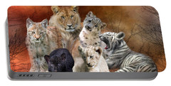 Young And Wild Portable Battery Charger by Carol Cavalaris
