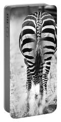 Zebra Butt Portable Battery Charger by Adam Romanowicz