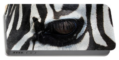 Zebra Eye Portable Battery Charger by Linda Sannuti