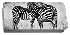 Zebra Love Portable Battery Charger by Adam Romanowicz