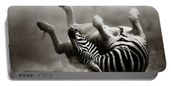 Zebra Rolling Portable Battery Charger by Johan Swanepoel
