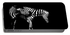 Zebra Stripes Portable Battery Charger by Martin Newman