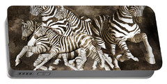 Zebras Portable Battery Charger by Betsy Knapp