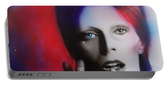David Bowie - ' Ziggy Stardust ' Portable Battery Charger by Christian Chapman