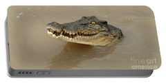 Salt Water Crocodile 3 Portable Battery Charger by Bob Christopher