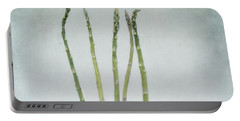 A Bunch Of Asparagus Portable Battery Charger by Priska Wettstein