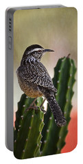 A Cactus Wren  Portable Battery Charger by Saija  Lehtonen